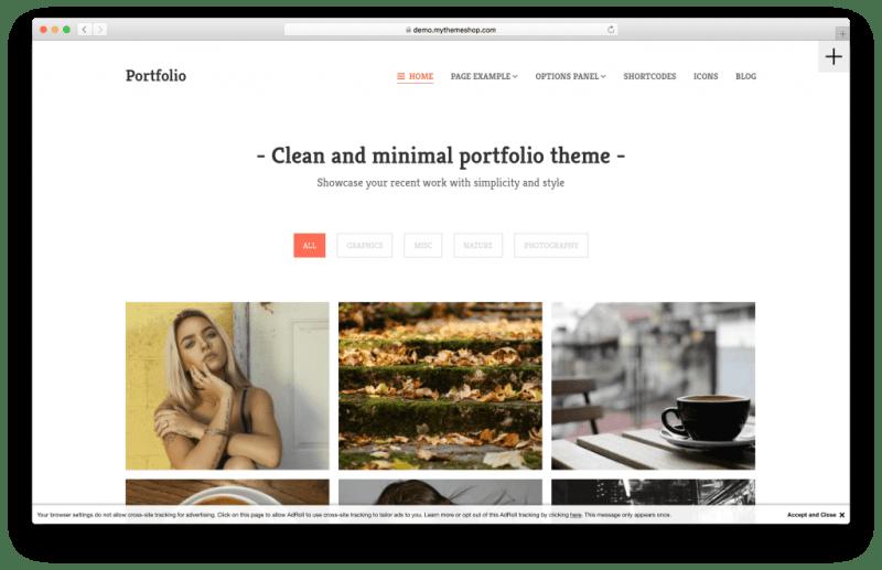WordPress portfolio portfolio theme screenshot