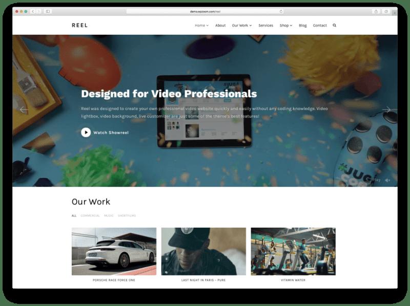 Reel WordPress Video Product and Portfolio Theme