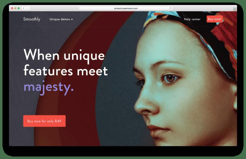 Smoothly WordPress portfolio theme screenshot