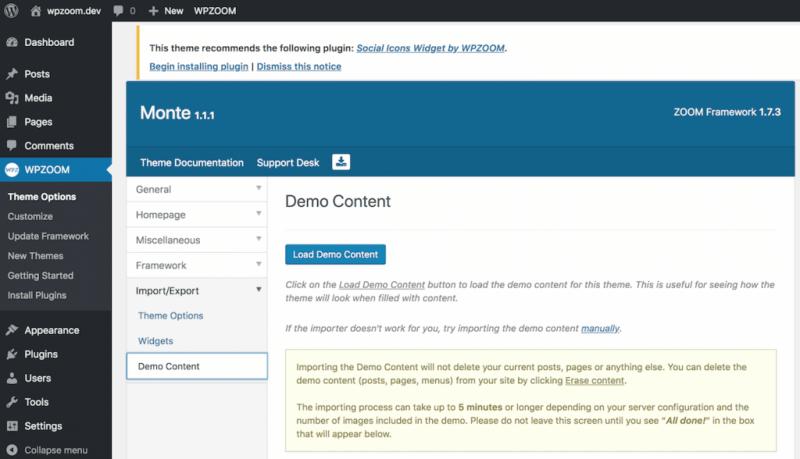 Demo content.