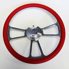 Jeep Wrangler YJ CJ5 CJ7 Cherokee Wagoneer Red & Billet Steering Wheel 14