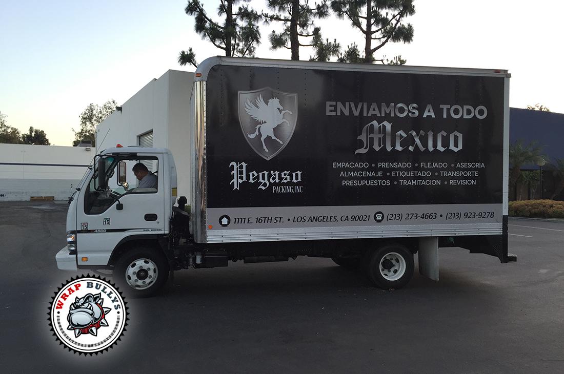 Custome Box Truck Wraps. Design, Print, Install