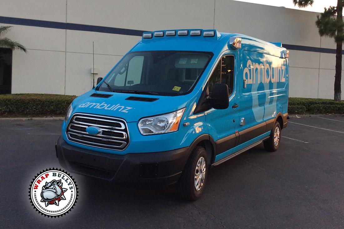 Van Wraps for Ambulance Fleet. Custom Van Wraps. Call us today for pricing.