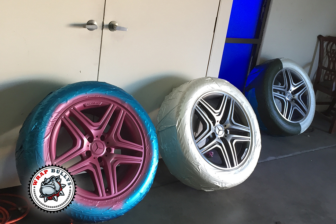 Custome Pink Wrap with Painted Wheels to Match.