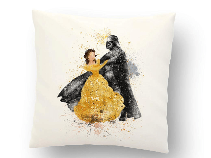 Darth Vader and Belle Pillow Cover