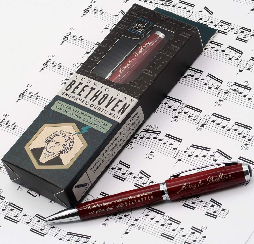 Beethoven Quote Pen gift for music lovers