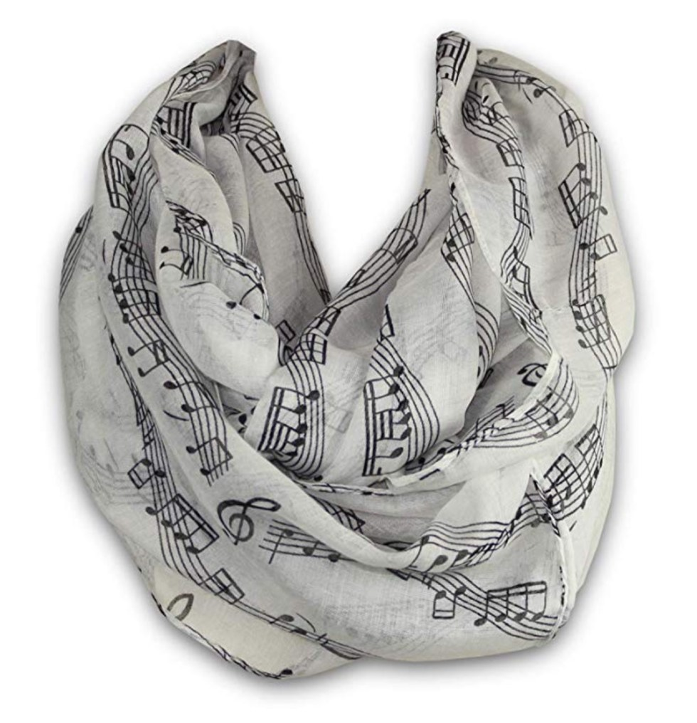 Musical Notes Scarf gift for music lovers