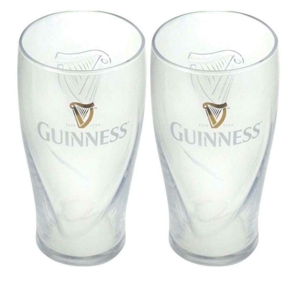 Embossed Pint Glasses Guinness gifts
