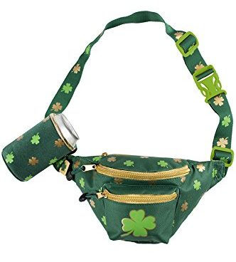Fanny Pack with Drink Holder St. Patricks Day gifts