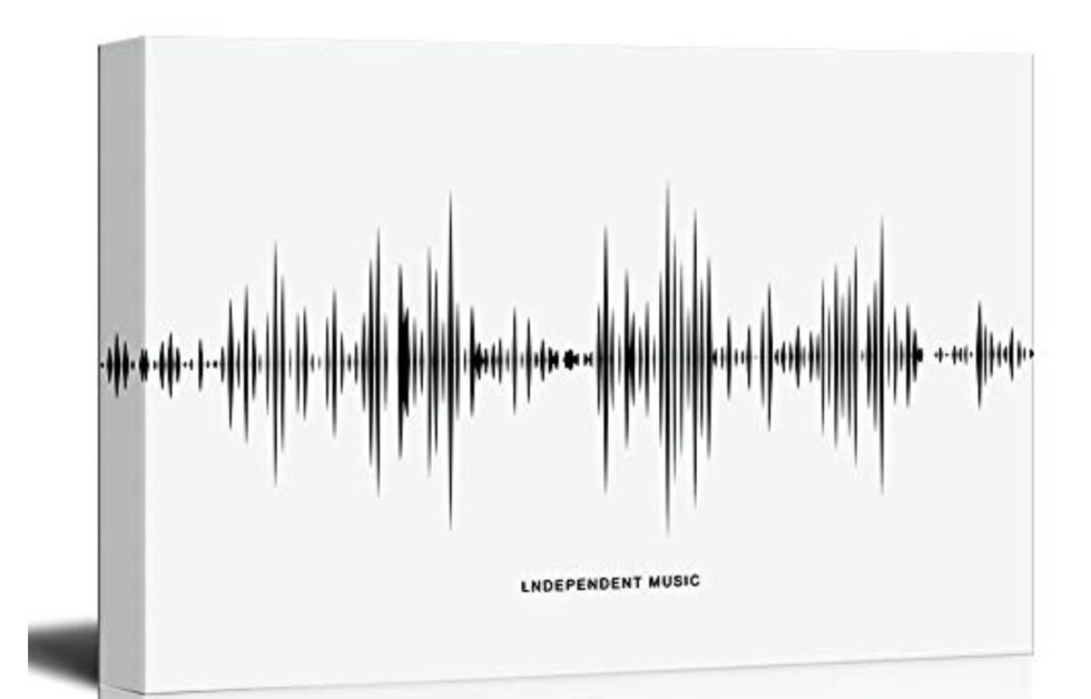 Sound Wave Art for music bedroom decor