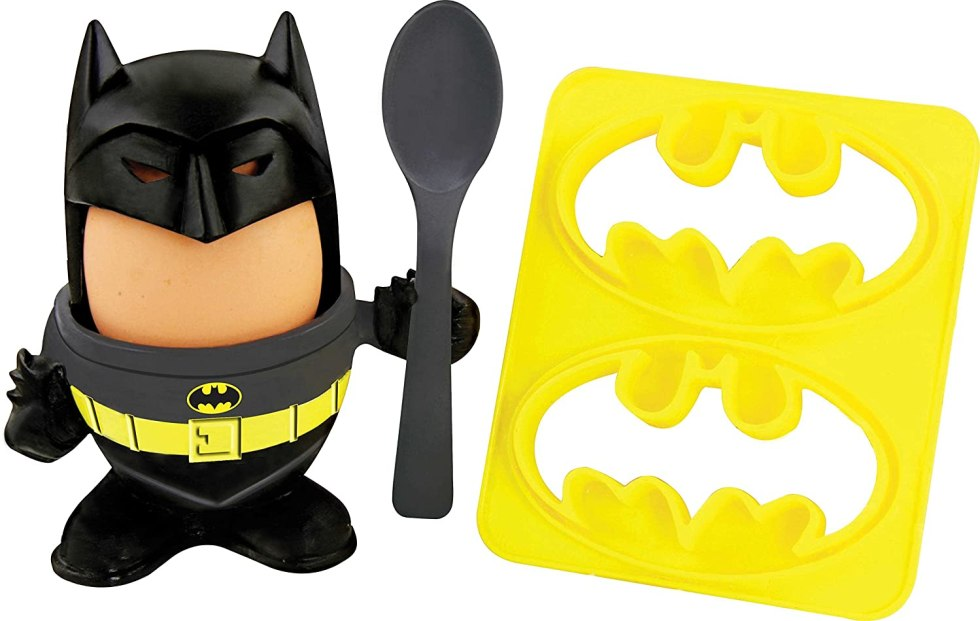 Batman egg cup and bread cutter