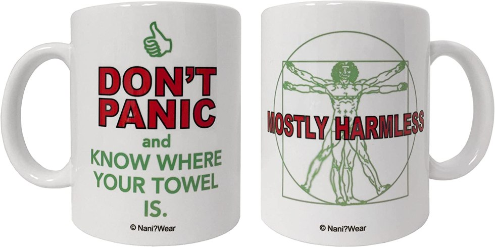 Dont Panic mug Hitchhikers Guide to the Galaxy gifts