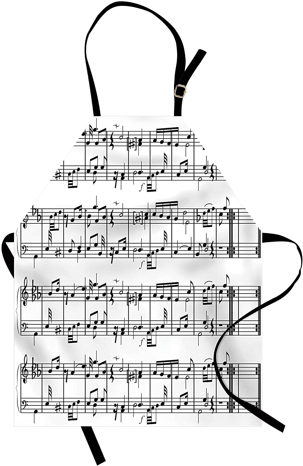 Notes apron for music themed kitchen gifts
