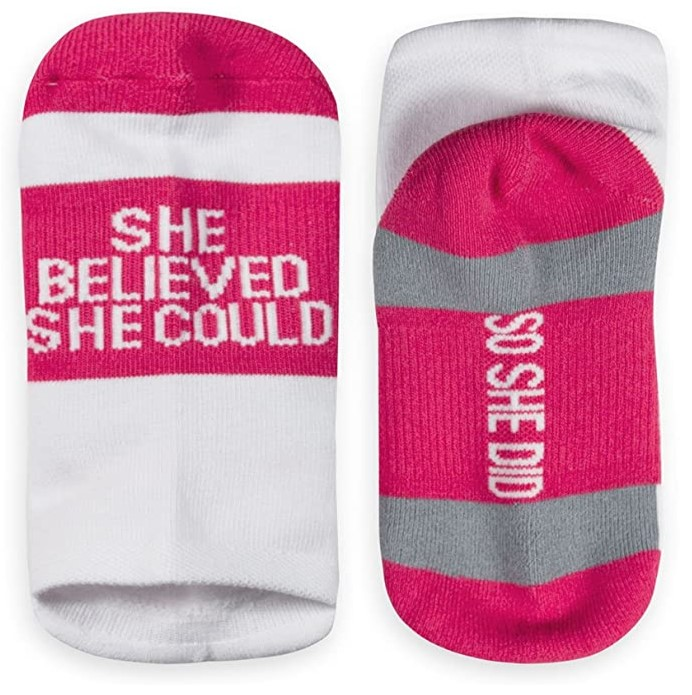 She Believed She Could socks inspirational gifts