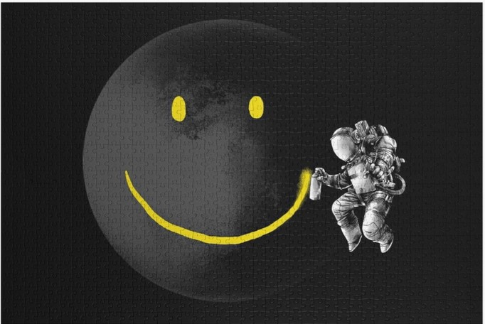 Moon smile jigsaw puzzle