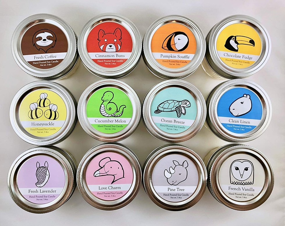 Conservation candle wildlife gifts