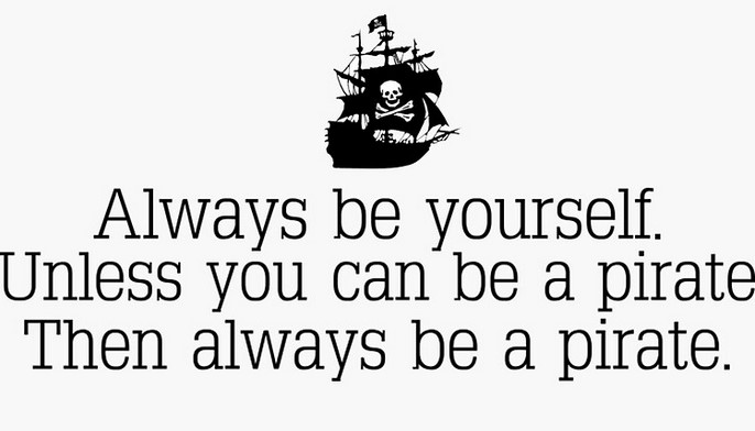 always be a pirate sticker gifts