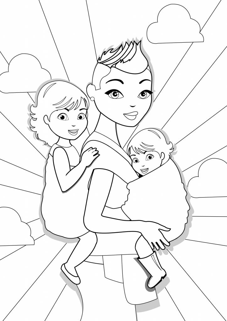 Wrap you in love coloring page