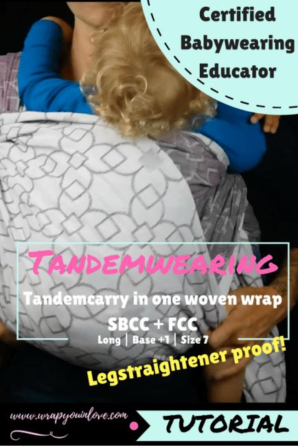 Tandemwearing in 1 woven wrap Image