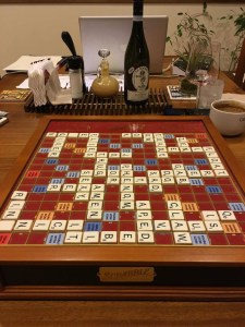 The game of Scrabble looks different from different perspectives