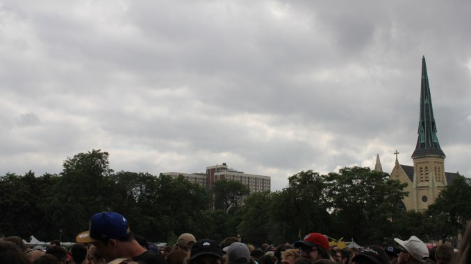 Cloudy cloudy @ Union Park for Friday's events.