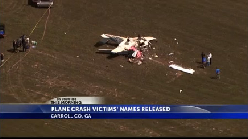 Investigators identify victims in west Georgia plane crash