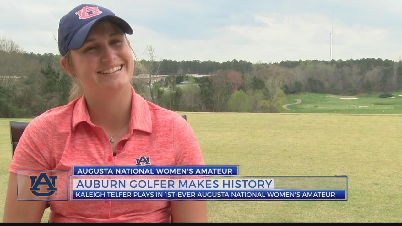Auburn golfer Kaleigh Telfer makes history
