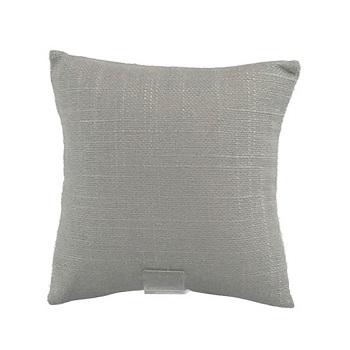 grey linen bracelet pillow display with