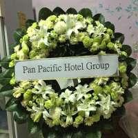 พวงหรีดดอกไม้สด A153 จัดส่งในนาม Pan Pacific Hotels Group ณ วัดชลประทานรังสฤษดิ์
