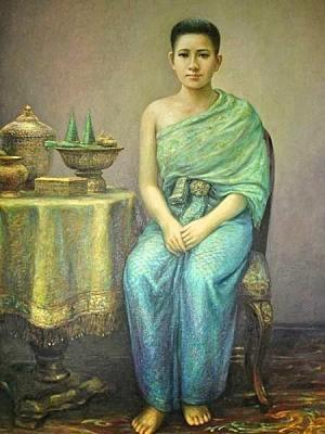 ภาพเหมือนสมเด็จพระนางเธอโสมนัสวัฒนาวดี พระอัครมเหสีในรัชกาลที่ 4