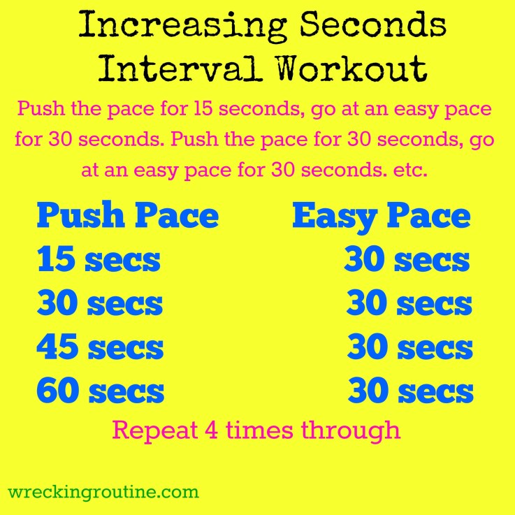 Increasing Seconds Interval Workout