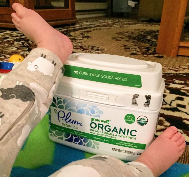 Plum Organics Grow Well Infant Formula - Feet