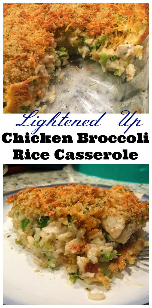 Lightened Up Chicken Broccoli Casserole