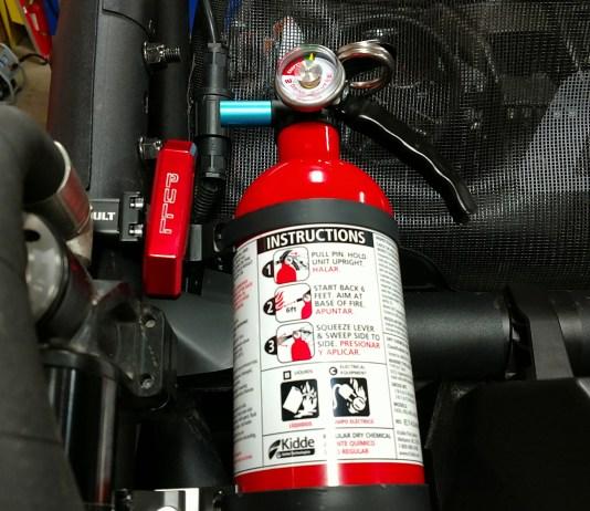 Installation   Assault Industries Quick Release Fire Extinguisher Kit   Polaris Can-Am Tekton Yamaha