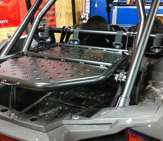Assault Industries Adventure Rack Tire Carrier Install Polaris RZR Turbo S & XP1000