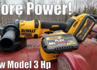 DEWALT 60V FLEXVOLT 4-1/2 – 6 IN. Grinder Review (DCG418)