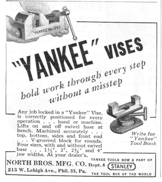Vintage Ad Yankee Vises
