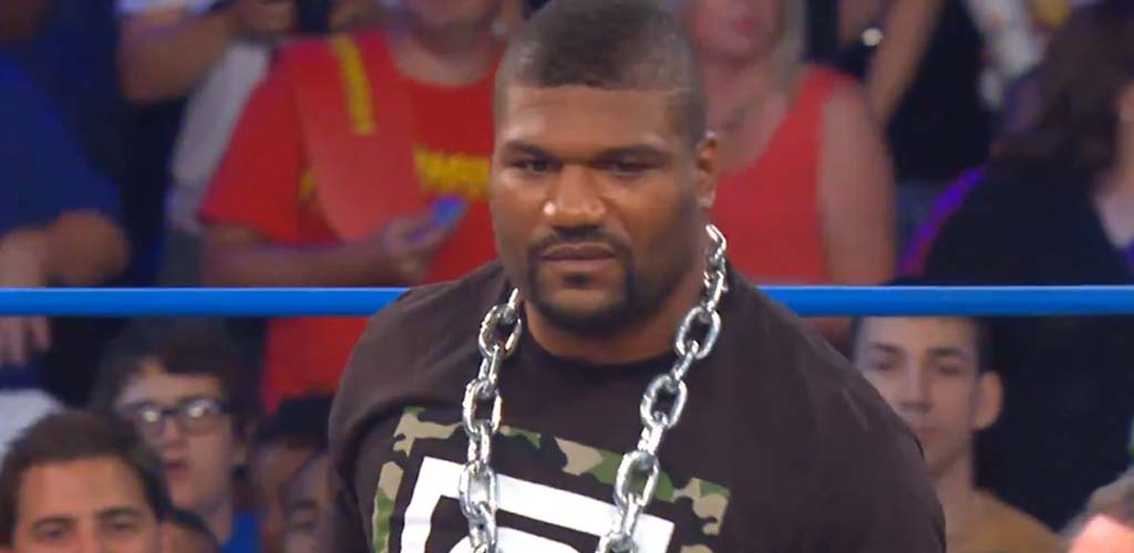 Kurt Angle interrupts Rampage Jackson's TNA debut