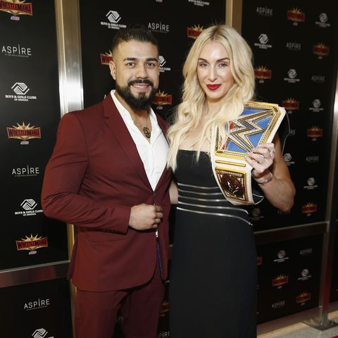 Andrade engages Charlotte Flair