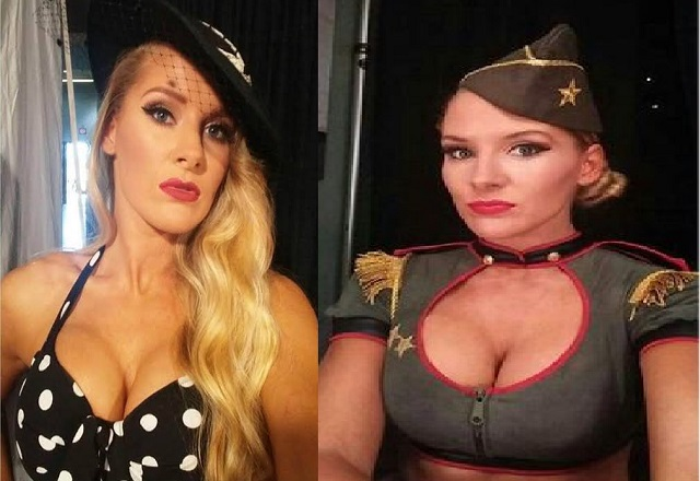 WWE Lacey Evans boobs about to pop out