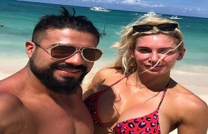 WWE star Charlotte Flair spotted with ring