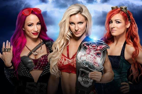 WWE women stars Sasha Banks, Becky Lynch and Charlotte Flair