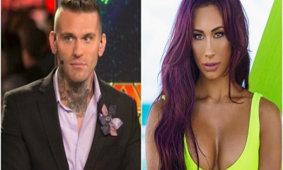 Corey Graves and Carmella Kissing