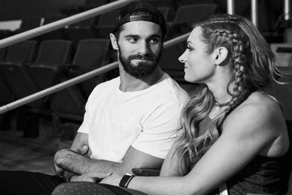 Becky Lynch and Seth Rollins