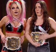 Nikki Cross and Alexa Bliss
