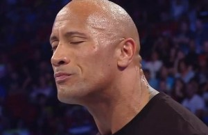 Dwayne The Rock Johnson sad and crying