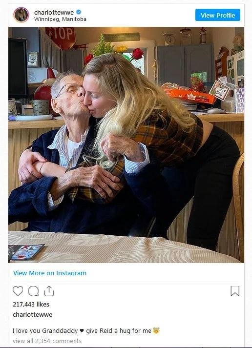 Charlotte Flair grandfather passes away
