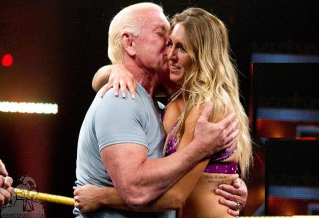Charlotte Hugging Her Father Ric Flair