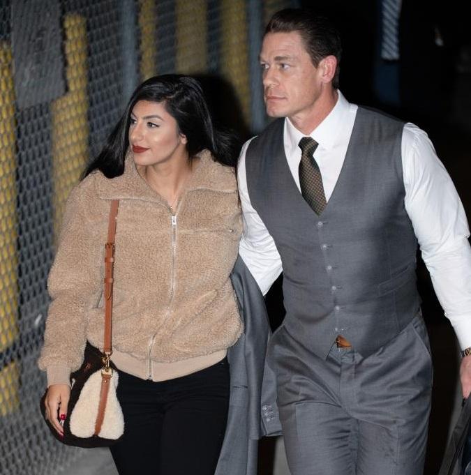 John Cena is joined by girlfriend Shay Shariatzadeh
