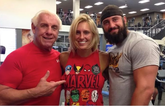 Ric Flair, Thomas Latimer and Charlotte flair